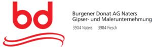 Das Logo der Firma Burgener Donat AG